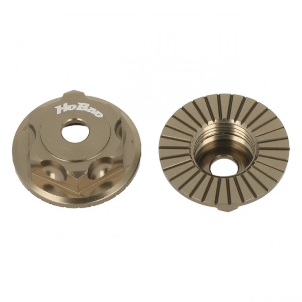 Radmuttern geschlossen bronze (2 Stück)
