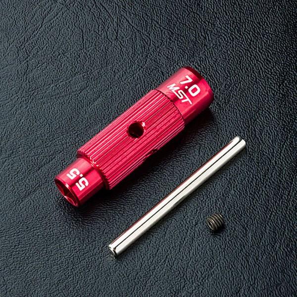 Steckschlüssel Alu rot 5.5/7.0mm