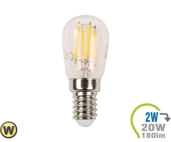 E14 LED Lampe 2W Filament ST26 Warmweiß