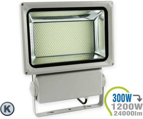 LED Strahler 300W SMD grau Kaltweiß