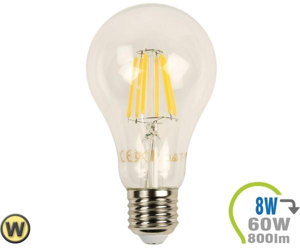 E27 LED Lampe 8W Filament A67 Warmweiß