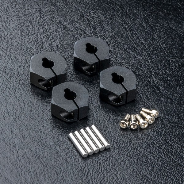 Radmitnehmer Alu 6mm schwarz (4 Stück)