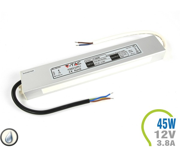 LED Netzteil 45W 12V 3.75A Metall IP65
