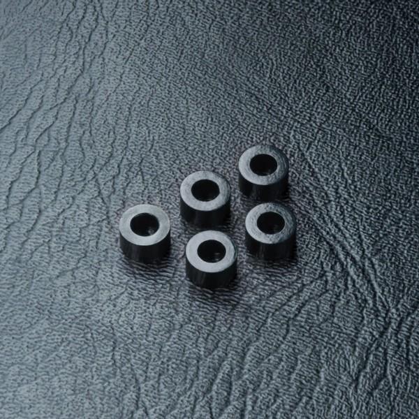 Beilagscheibe Alu 3x5.5x3.0mm schwarz (5 Stück)