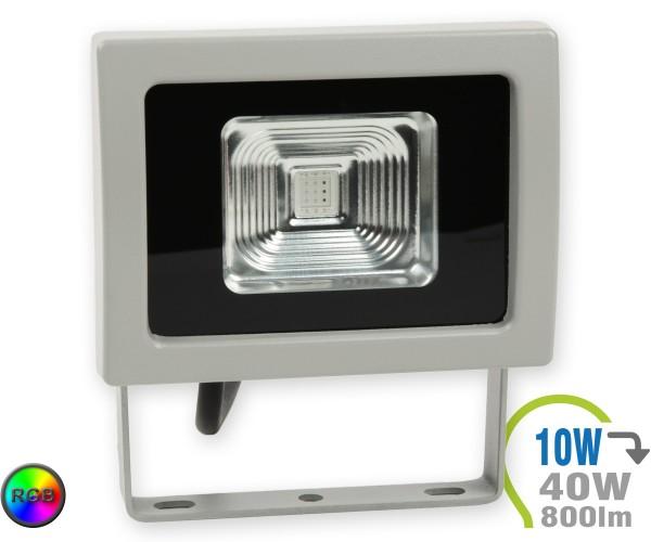 LED Strahler 10W schwarz RGB Funkfernbedienung