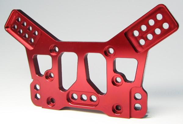 Aluminium CNC Dämpferbrücke Hinten (Mantis) rot eloxiert
