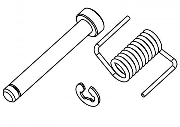 Befestigungsstift und Feder Tankdeckel