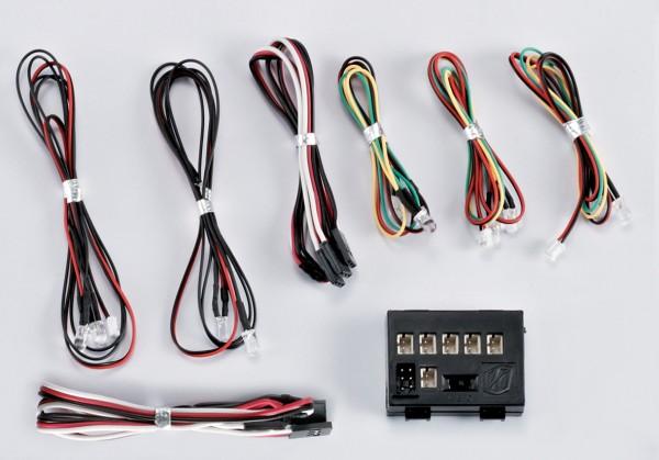 LED Licht Set mit 10 LED inkl Kontroller Box