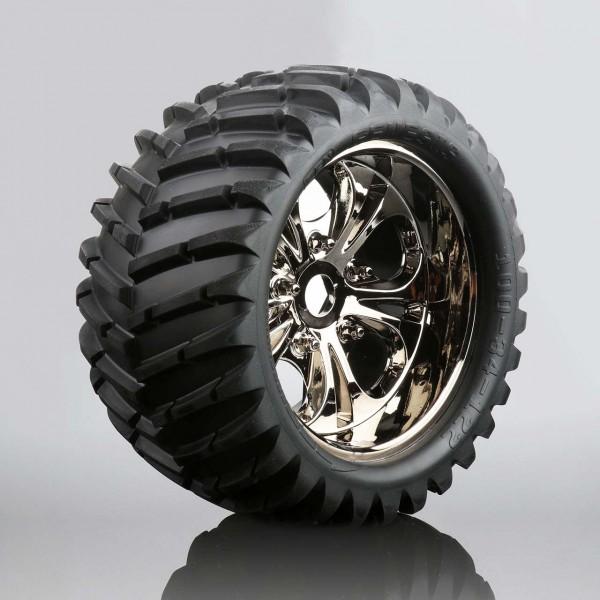 V-Profil Reifen auf Felge (fertig verklebt, 1 Paar)