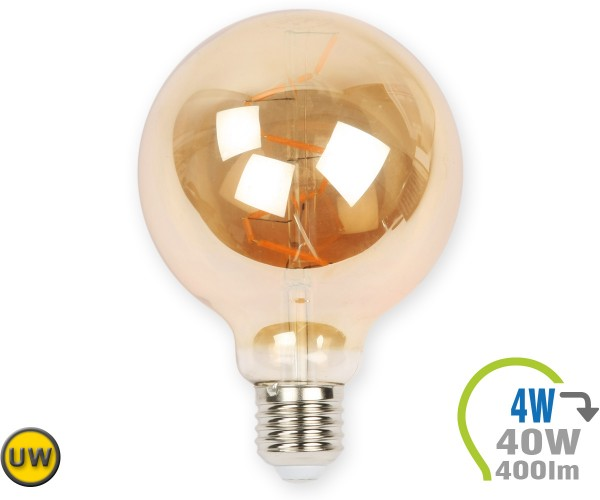 E27 LED Globe 4W Vintage Filament G95 Ultra-Warmweiß