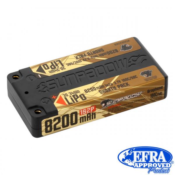 LiPo Akku  8200mAh 100C/50C 1s Shorty Ultra LCG 4mm Buchse