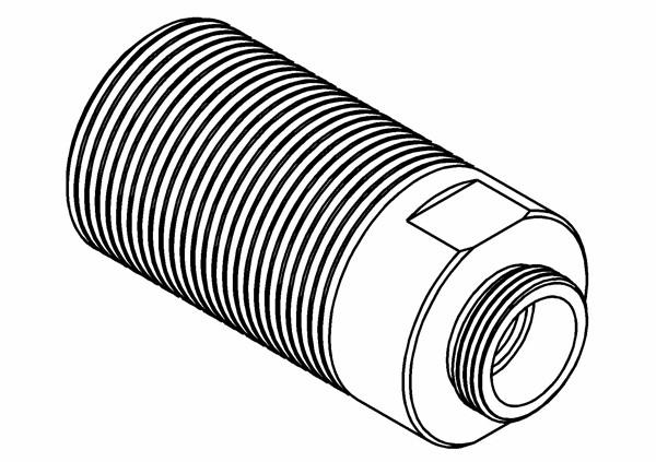 Stoßdämpfergehäuse Plastik für XS5
