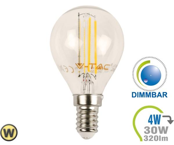 E14 LED Lampe 4W Filament P45 Warmweiß Dimmbar