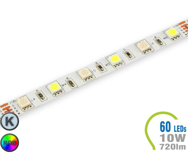 LED Stripe 60 LED/m 720 lm/m RGB+Kaltweiß