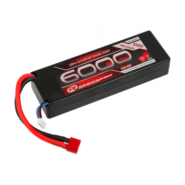 LiPo Akku 6000mAh 2S 50C Racing Pack T-Stecker