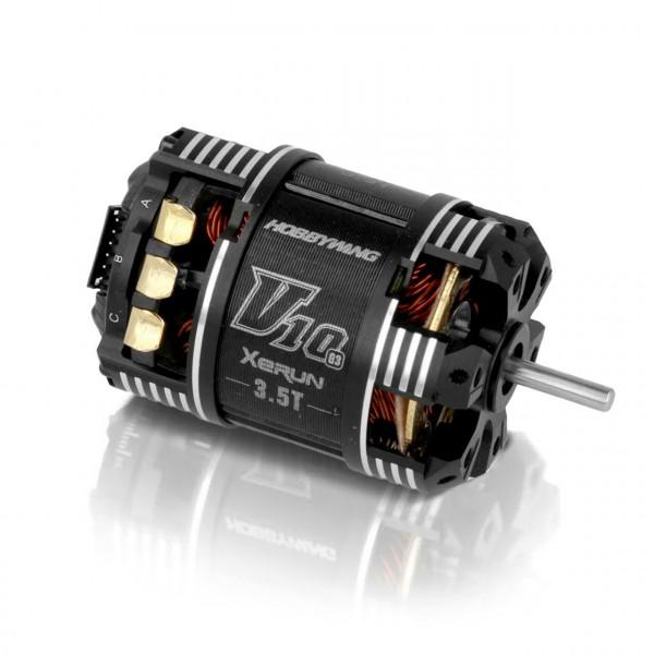 Xerun V10 Brushless Motor G3 9450kV (1s) 3.5T Sensored für 1