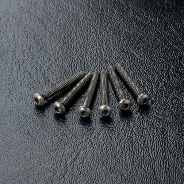 Rundkopfschneidschraube Innensechskant M2x16mm (6 Stück)