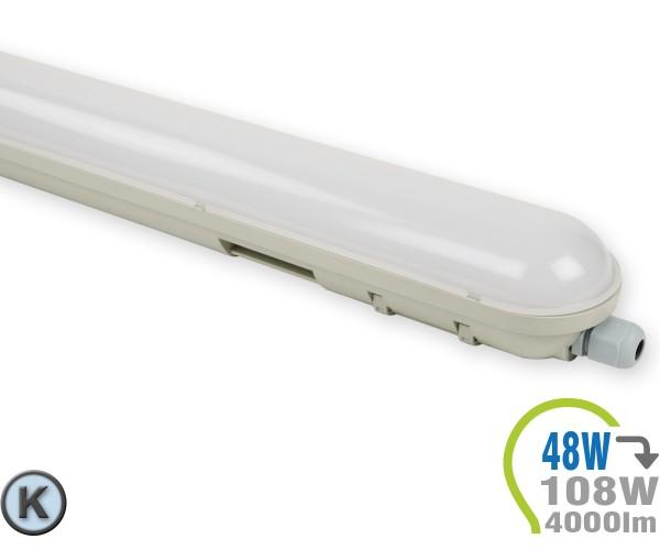 LED Tube Aufbauleuchte 48W 150cm IP65 Kaltweiß