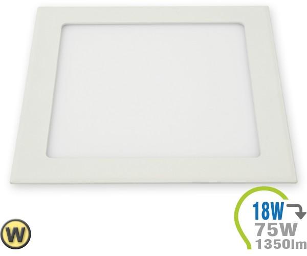 LED Paneel Einbauleuchte Premium Serie 18W Eckig Warmweiß