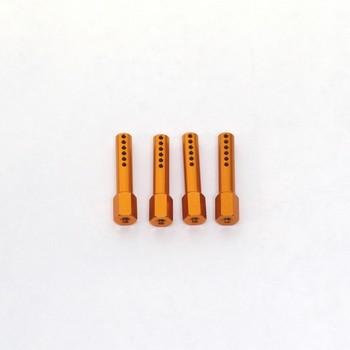 Alu Karossarie Steher für AX10 (Orange) 4 Stk.