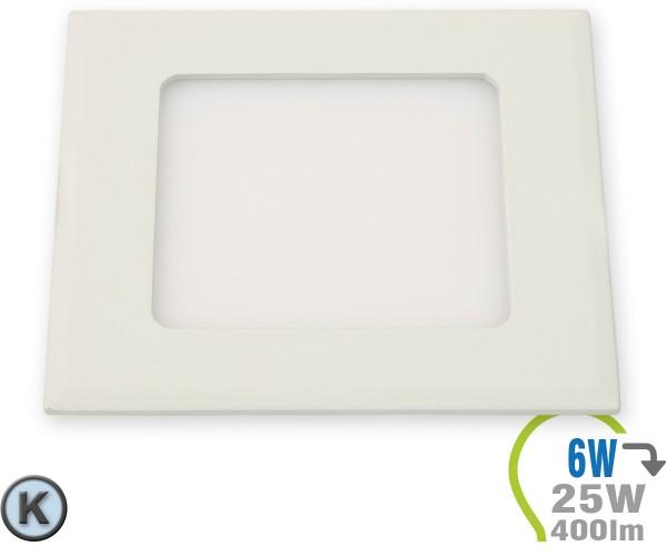 LED Paneel Einbauleuchte Premium Serie 6W Eckig Kaltweiß