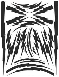 Airbrush Maske Lightning