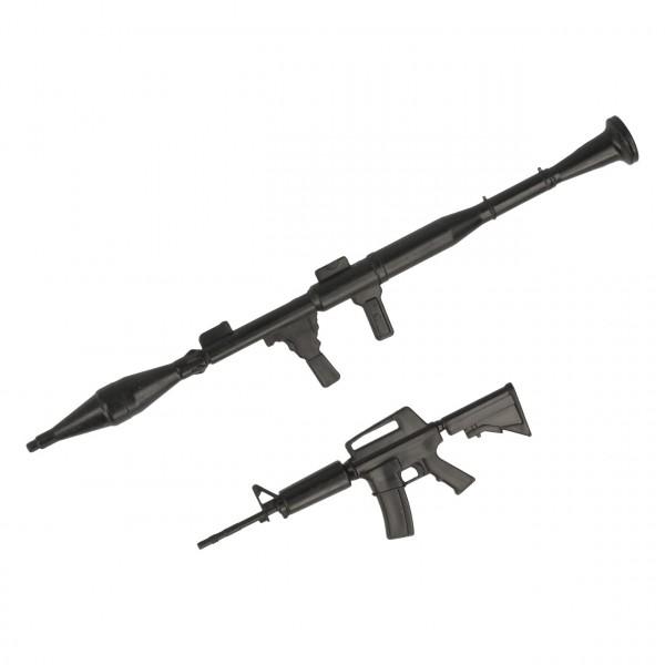 Waffenset Dekor Maschinengewehr und Panzerfaust