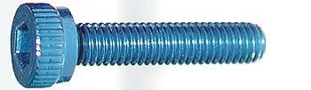 M3x15mm Zylinderkopfschraube blau (4)