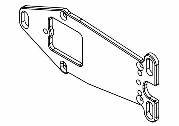 Motorträger Platte Competition Aluminium