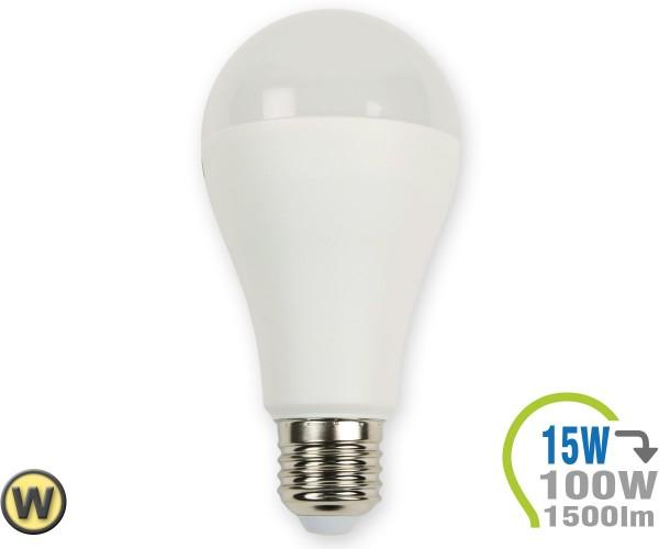 E27 LED Lampe 15W A65  Warmweiß