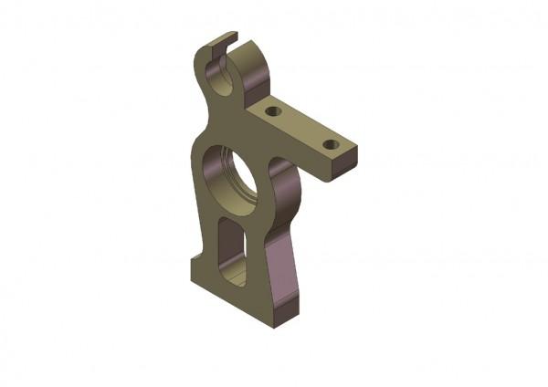 Aluminium 2-gang Wellenhalter links