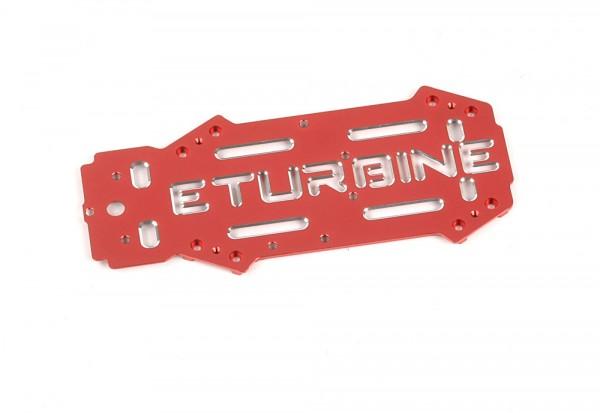 Tuning Aluminium Oberdeck Rot eloxiert für TB250