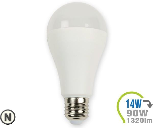 E27 LED Lampe 14W A65  Neutralweiß