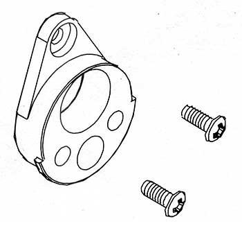 Motorhalterung mit Schrauben