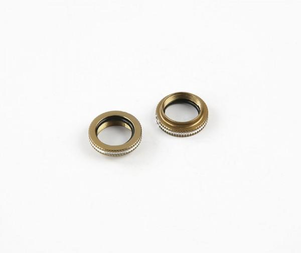 Aluminium Federeinstellmutter + O-Ring (2 Stk.)