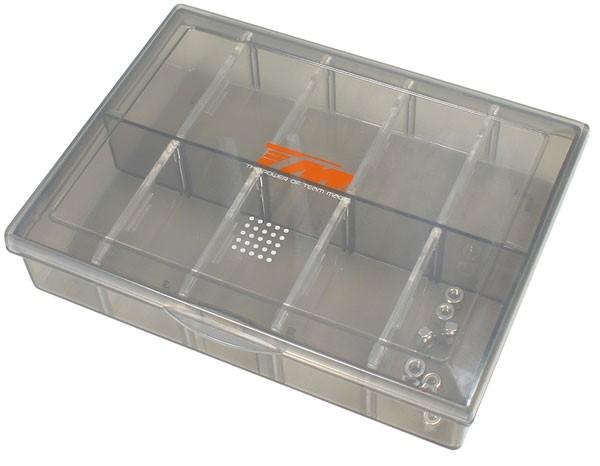 Kleinteilebox einstellbar getönt (13x10x2,8cm)