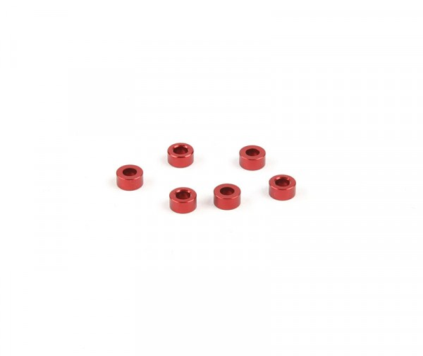 3x6mm Distanzstück - Rot (6Stk.)