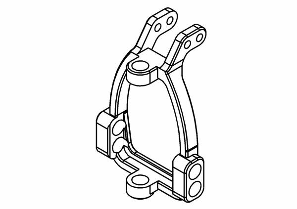 Caster Block / C-Hub Set 0 Grad Aluminium L/R (Optional)
