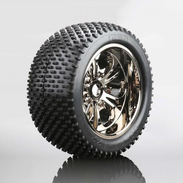 Spike Reifen auf Felge (fertig verklebt, 1 Paar)
