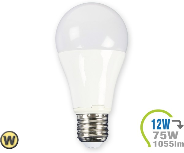 E27 LED Lampe 12W A60  Warmweiß