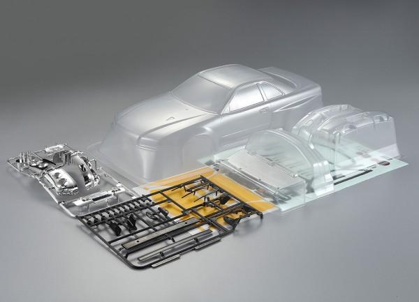 Nissan Skyline R34 Karosserie unlackiert 195mm Kit