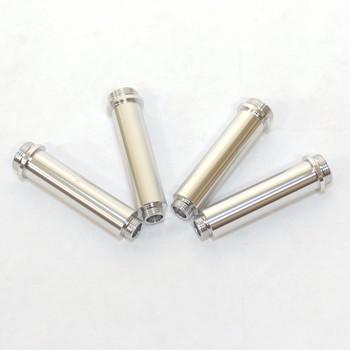 Gefräste Dämpfergehäuse Alu für AX10 Dämpfer (4 Stk.) Silber