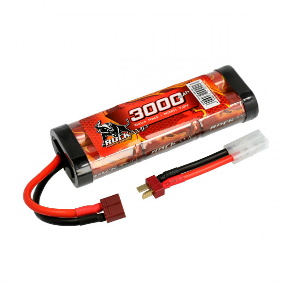NiMH Akku 3000mAh 7,2V Stick Pack T-Stecker & Tamiya