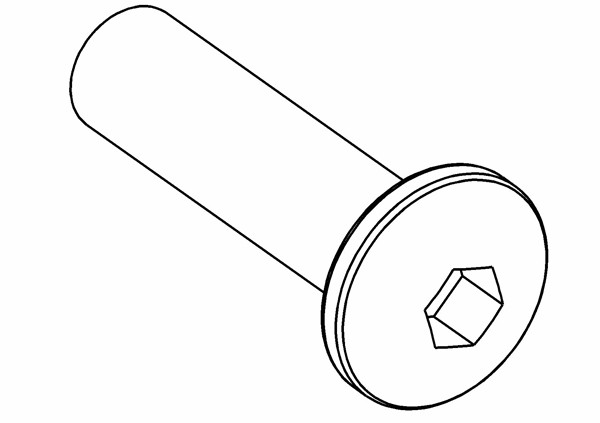 Rundkopf Innensechskantschraube M4x16 mm