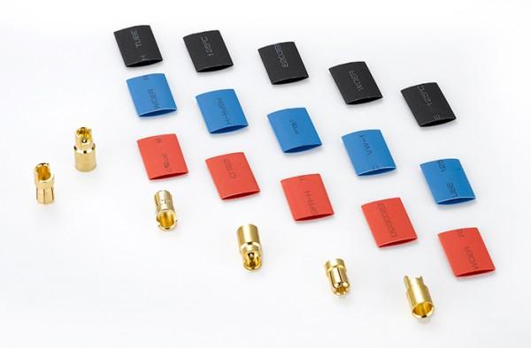 Goldkontakt Stecker Set 6.0mm 3 Paare