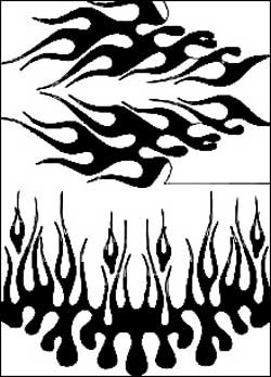 Airbrush Maske Fire & Ice