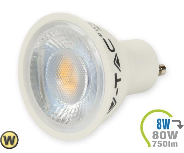 GU10 LED Lampe 8W Spot mit Linse Warmweiß