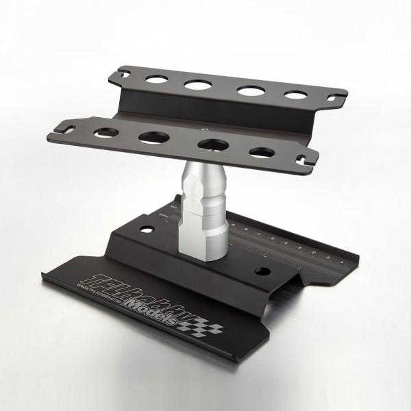 Auto Montagestand hoch 1/10 drehbar schwarz eloxiert
