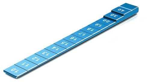 Bodenabstandslehre 1-4mm Blau