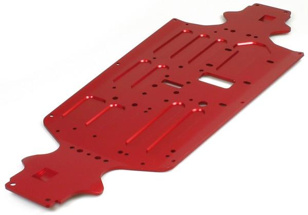 Protos 70-75 Al Chassis CNC gefräst rot eloxiert